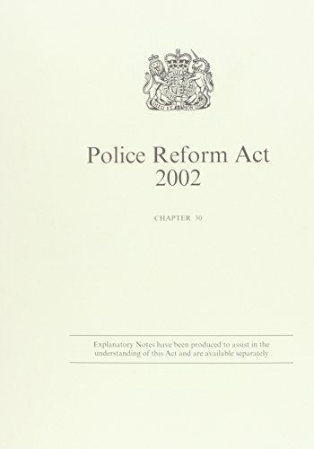 9780105430025: Police Reform Act 2002: Government Response (Public General Acts - Elizabeth II)