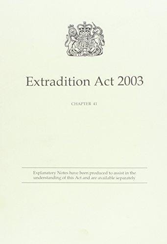 9780105441038: Extradition Act 2003 Elizabeth II. Chapter 41