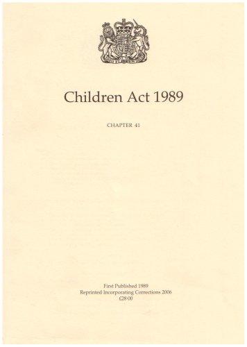 9780105441892: Children Act 1989 (Unknown)