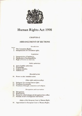 9780105442981: Human Rights Act, 1998 (Public General Acts - Elizabeth II)
