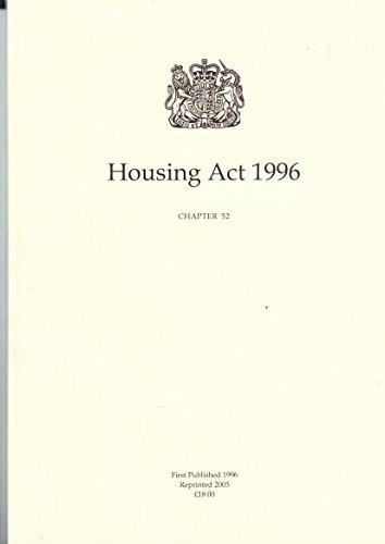 9780105452966: Housing Act 1996: Elizabeth II. Chapter 52
