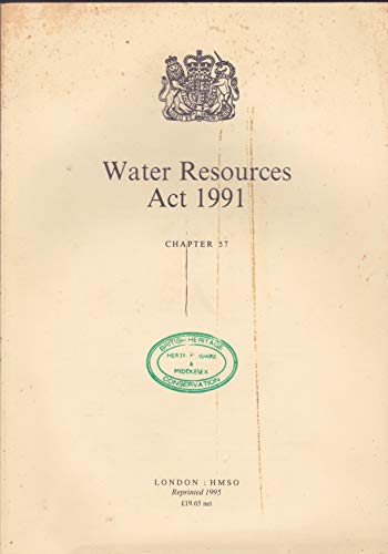 9780105457916: Water Resources Act 1991