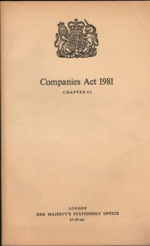 9780105462811: Companies Act 1981 ([Public general acts])