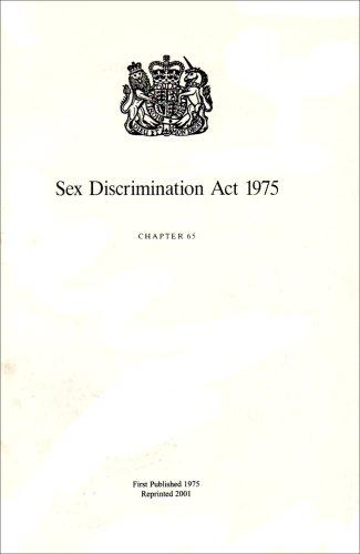 9780105465751: Sex Discrimination Act 1975: Elizabeth II. Chapter 65: Elizabeth II. 1975. Chapter 65
