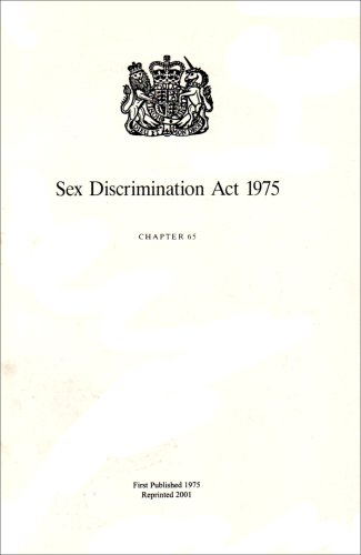 Sex Discrimination Act 1975 : Elizabeth Ii.