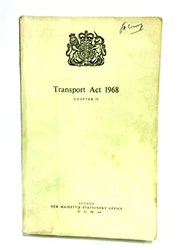 9780105473688: Transport Act: 1968, Chapter 73