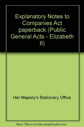 9780105646068: Companies Act 2006: Explanatory Notes (Public General Acts - Elizabeth II)