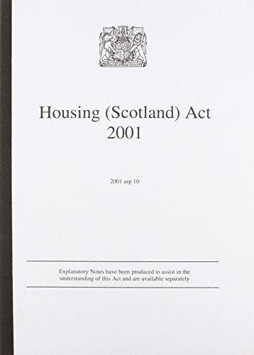 9780105900207: Housing (Scotland) Act 2001 (Acts of the Scottish Parliament - Elizabeth II)