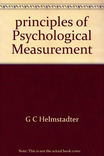 9780107496678: Principles of Psychological Measurement