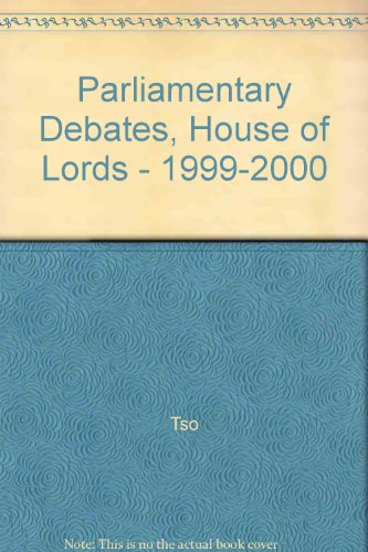 9780107806101: Parliamentary Debates, House of Lords - 1999-2000