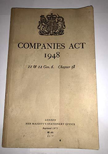 9780108500930: Companies Act 1948