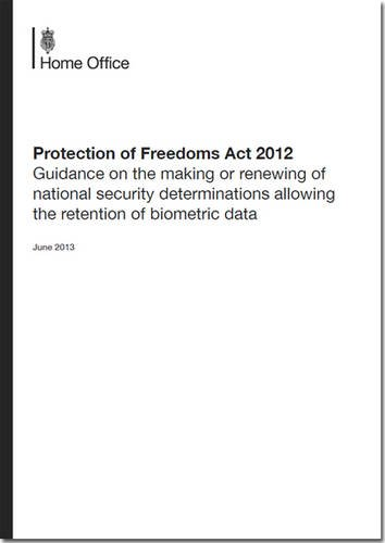 9780108512483: Protection of Freedoms Act 2012: Guidance on the Making or Renewing of National Security Determinations Allowing the Retention of Biometric Data