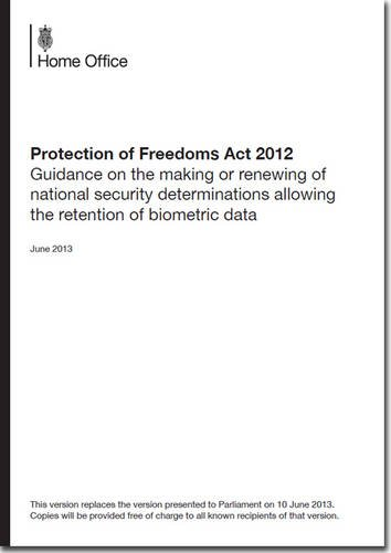 9780108512490: Protection of Freedoms Act 2012: Guidance on the Making or Renewing of National Security Determinations Allowing the Retention of Biometric Data