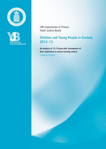 9780108560095: Children and Young People in Custody 2012-13: An Analysis of 12-18 Year-olds' Perceptions of Their Experience in Secure Training Centres