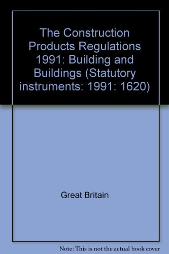 9780110146201: The Construction Products Regulations 1991: Building and Buildings (Statutory Instruments)