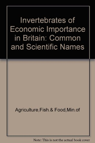 9780112403173: Invertebrates of Economic Importance in Britain: Common and Scientific Names
