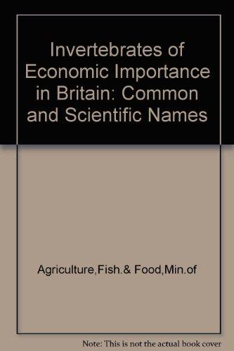 9780112403173: Invertebrates of Economic Importance in Britain: Common and Scientific Names