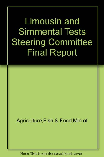 9780112415206: Limousin and Simmental Tests Steering Committee Final Report