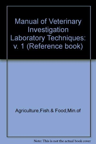 9780112425304: Manual of Veterinary Investigation Laboratory Techniques: v. 1 (Reference book)