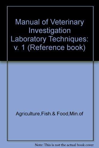 9780112425304: Manual of Veterinary Investigation Laboratory Techniques: v. 1