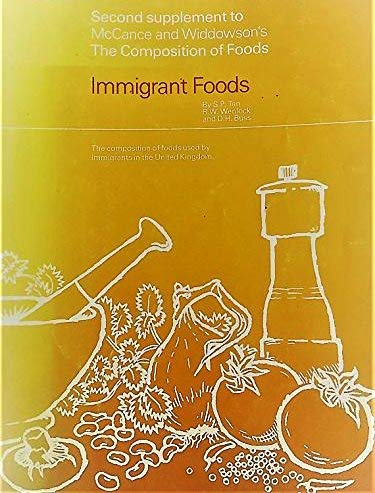 Immigrant Foods: Second Supplement to McCance and: S. P.; Wenlock,