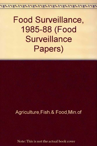 9780112428626: Food Surveillance, 1985-88 (Food Surveillance Papers)