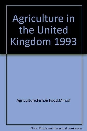 9780112429562: Agriculture in the United Kingdom 1993