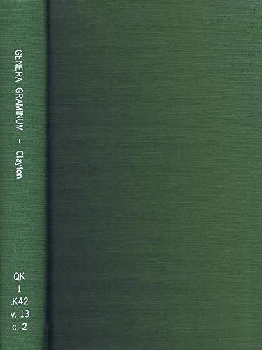 9780112500063: Genera Graminum: Grasses of the World (Kew bulletin additional series)