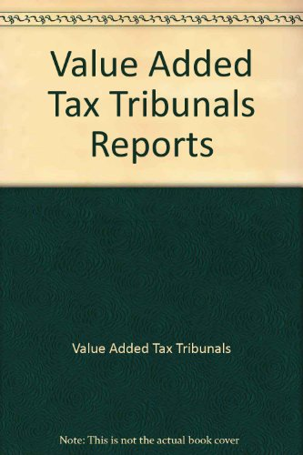9780112605539: Value Added Tax Tribunals Reports