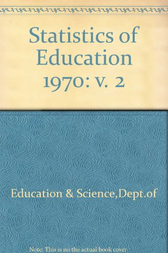 9780112702108: Statistics of Education 1970: v. 2