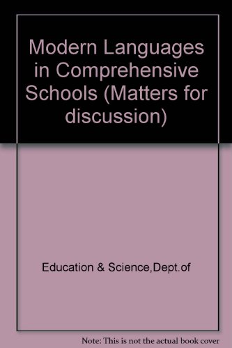 9780112704430: Modern Languages in Comprehensive Schools (Matters for discussion)