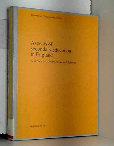9780112704980: Aspects of Secondary Education in England