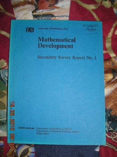 9780112705161: Mathematical Development: Secondary Survey, 1: England and Wales