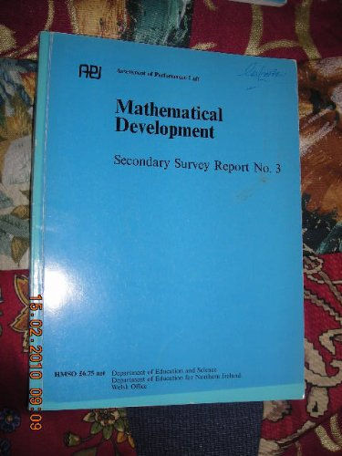 9780112705185: Mathematical Development: Secondary Survey, 3: England and Wales