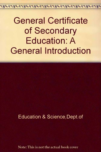 9780112705710: General Certificate of Secondary Education: A General Introduction