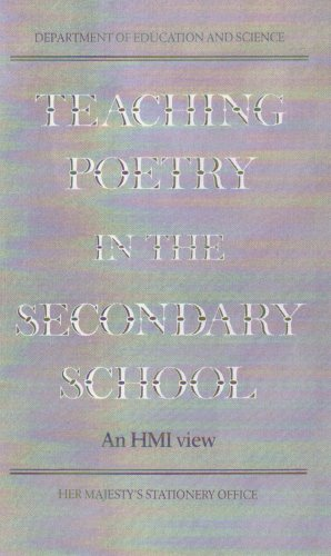 9780112705963: Teaching Poetry in the Secondary School