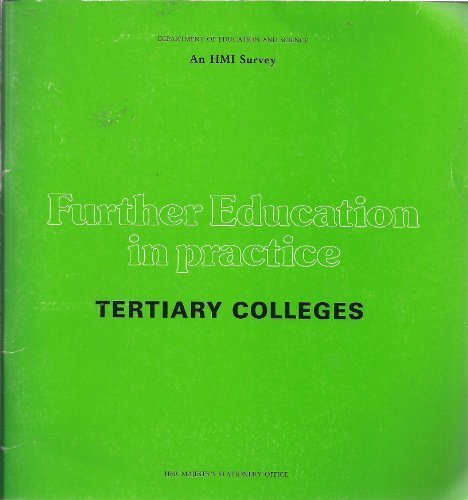 9780112706786: Further Education in Practice: Tertiary Colleges