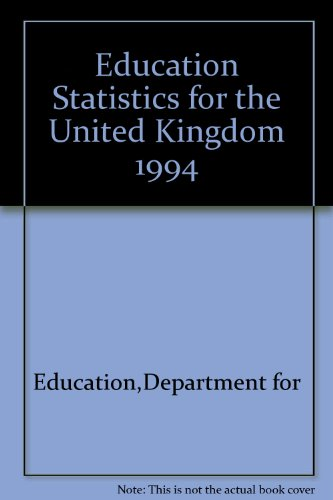 9780112708957: Education Statistics for the U. K., 1994