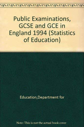 9780112709077: Statistics of Education: Public Examinations Gcse and Gce in England 1994