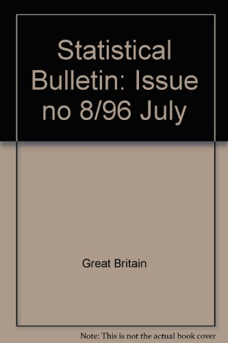 9780112709633: Statistical Bulletin: Issue no 8/96 July