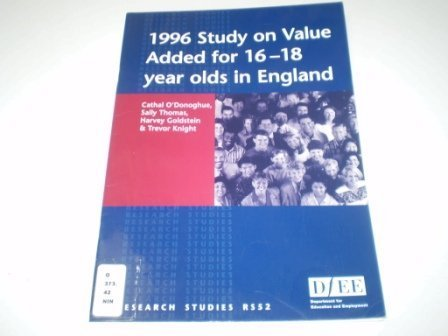 9780112710011: 1996 Study on Value Added for 16-18 Year Olds in England (Research Studies)