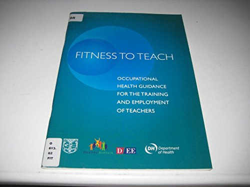 9780112710882: Fitness to Teach: Occupational Health Guidance for the Training and Employment of Teachers
