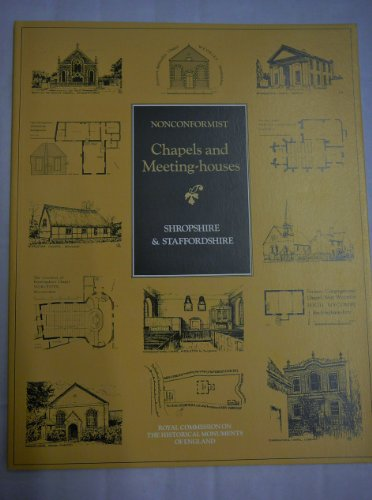 9780113000111: Inventory of Nonconformist Chapels and Meeting Houses in Central England: Shropshire and Staffordshire