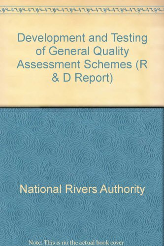 9780113101092: Development and Testing of General Quality Assessment Schemes (R & D Report)