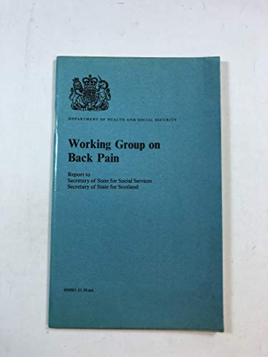 9780113204632: Back Pain: Working Group Report
