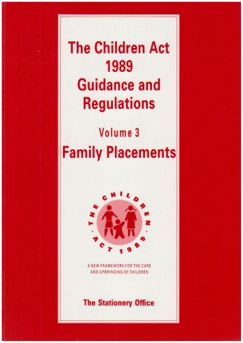 9780113213757: Children Act, 1989: Family Placements v. 3: Guidance and Regulations