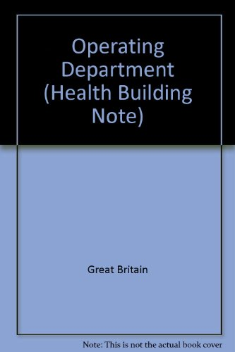 9780113213856: Operating Department (Health Building Note)