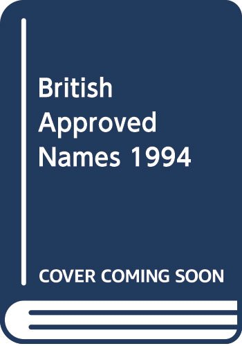 9780113218042: British Approved Names 1994