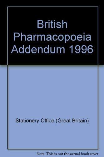 9780113218967: British Pharmacopoeia Addendum 1996