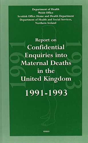 9780113219834: Report on Confidential Enquiries into Maternal Deaths in the United Kingdom 1991-1993